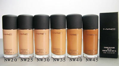 MAC Studio Fix SPF 15 FLUID Foundation VARIOUS SHADES - Size 30ml