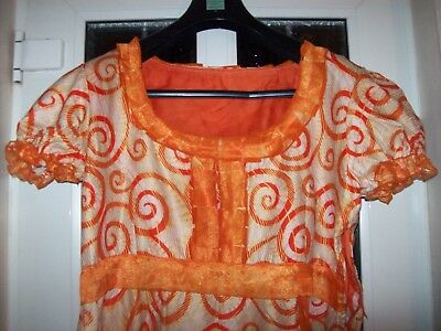 African Cotton  Print  Summer  Dress With Head Scarf UK Size XL Chest 36,bnwot
