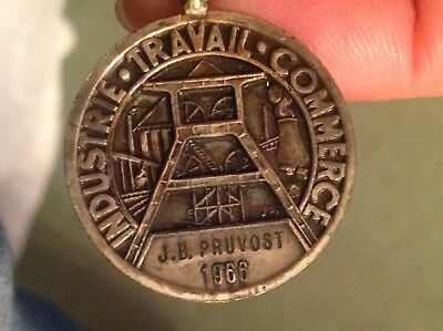 Industrie Travail Commerce medal ~ French ~ 1966 J B Pruvost