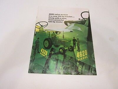 John Deere 4320 115 HP & 4620 135 HP Diesel Tractor Brochure 1970!!  Great Shape