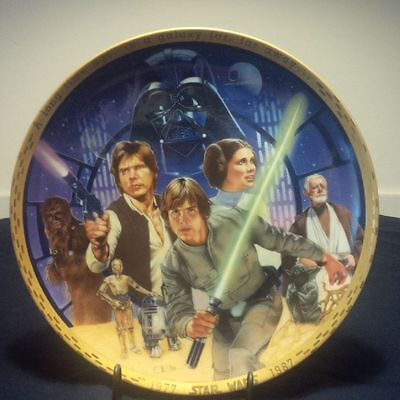 Star Wars 10th Anniversary Commenorative Plate #3406 1977-1987