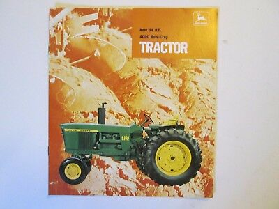 New 94 H.P. 4000 row-crop tractor sales brochure 1969  mint condition RARE