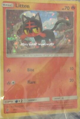 Pokemon card Litten from Mcdonalds happy meal Card Only Used