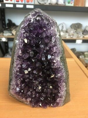 Extra High Quality Amethyst Specimen With Polished Rim - Uruguay (#0556)