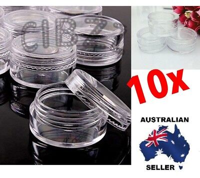 10x Pcs Eyeshadow Lip Balm Makeup Face  Cosmetic Empty Jar Pot Cream Containers