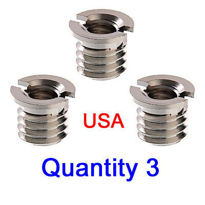 Qny 3 Tripod Thread Adapter - Adapter from 1/4-20 to 3/8-16 - USA Seller