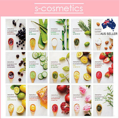 [INNISFREE] It's its Real Squeeze Mask Sheet *16 types* Choose Your Own!