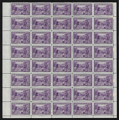 Canada Stamps -Pane of 40 (D) -1949, Bicentenary of Founding of Halifax #283 MNH