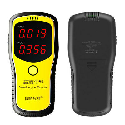 Digital Formaldehyde Detector HCHO & TVOC Meter Indoor Home Air Quality Tester