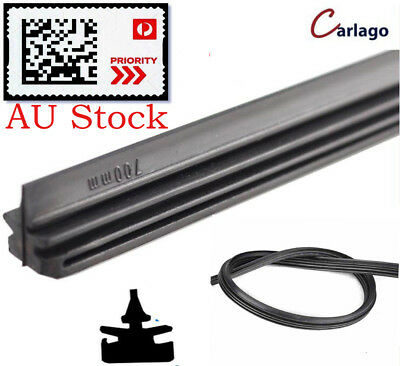 "Pair 11"" to 28""Wiper Blade Insert Refill Universal Car UTE Twin Rail Metal Back"