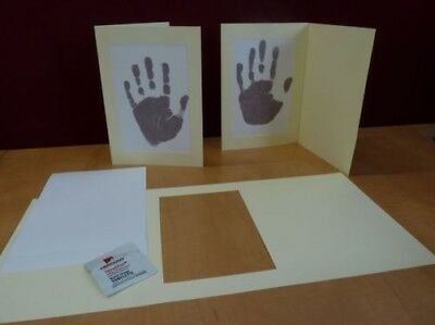 Inkless Handprint Footprint Baby Frame Card Kits, Child or Newborn Keepsake