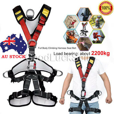 Au! Fall Arrest Protection Rock Tree Climbing Full Body Safety Harness Equipment