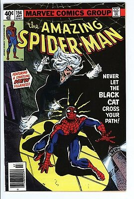 Amazing Spider-Man #194 Vol 1 Near Perfect High Grade 1st Appearance Black Cat