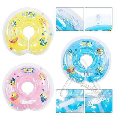 Baby Infant Neck Float Collar Kids Ring Aerated Swimming Lifebuoy Tube Safety US