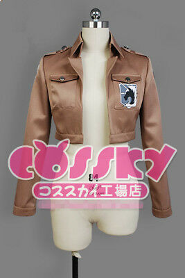 Attack on Titan Cosplay Jacke Shingeki no Kyojin Eren Jäger Damen S(EU XS)
