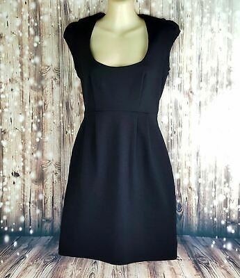 French Connection Womens Black Cotton Cap Sleeve Pencil Dress
