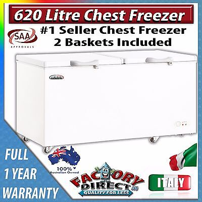 Brand New Quality 600lt Chest Freezer Home Commercial Deep Freeze Lock Wheels