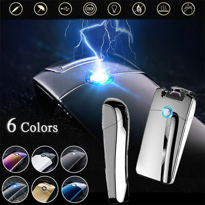 Electric LIGHTER USB Rechargeable Double ARC Windproof Flameless Plasma Torch