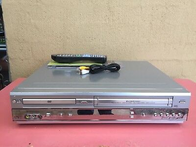 Serviced LG DC-593 Combo VCR DVD player + Video Recorder + Remote + RCA B