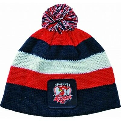 Sydney Roosters Official NRL Chunky Knit Baby Infant Beanie