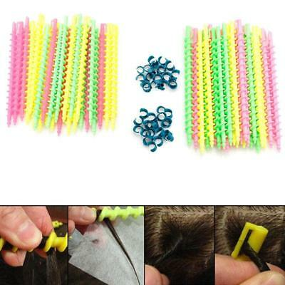 3 Sizes Plastic Styling Barber Salon Tool Hairdressing Spiral Hair Perm Rod LH