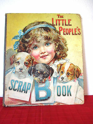 vintage book THE LITTLE PEOPLES SCRAP BOOK hc 1907 very rare ILLUSTRATED