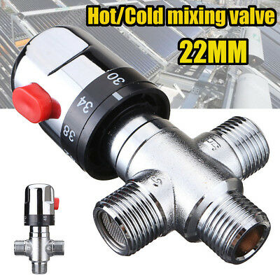 22MM Hot/Cold Thermostatic Mixing Valve For Water Heater Shower Control Mixer
