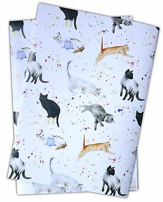 Cats and Kittens playing Gift Wrapping Paper; 2 sheets