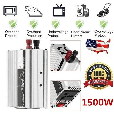 Solar Power Inverter 6000W Peak 12V DC To 110V AC Modified Wave Converter O8