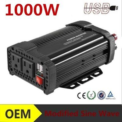 1000W DC 12V to AC 110V Car Auto Power Inverter Charger Converter For O8