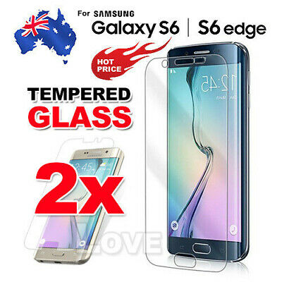 2X LCD Tempered Glass Film Cover For Samsung Galaxy S6 S6 Edge Screen Protector