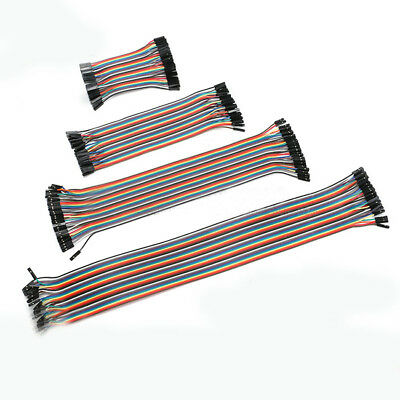 40P DuPont Cable Wire Rainbow Ribbon Jumper Female to Female/Male 10cm-40cm