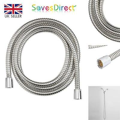 1.5 & 2M Chrome Shower Hose 8mm & 11mm Bore Cone To Cone Brass & Stainless Steel