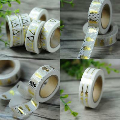 Halloween Decor Metallic Gold Washi Tape Adhesive Sticky Paper Scrapbook Sticker