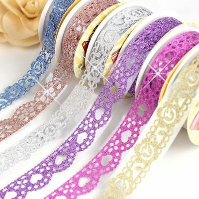 5x Lace Washi Tape Roll Bling Self-Adhesive Sticky Paper Stickers DIY Decor New