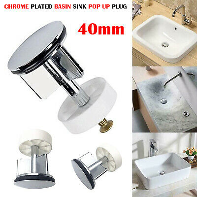 Brand New Replacement Chrome Brass Body 40Mm Basin Sink Waste Pop-Up Plug Pl-02