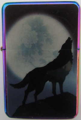 Wolf & Moon Star Lighter In Gift Tin