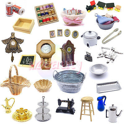 Dollhouse Miniature Bathroom Living Room Kitchen Table Tea 1:12 Decoration Toy
