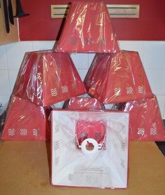 "7 x BRAND NEW 10"" RED WAVE STENCIL LAMP SHADES JOB LOT WHOLESALE MARKETS HOTELS"
