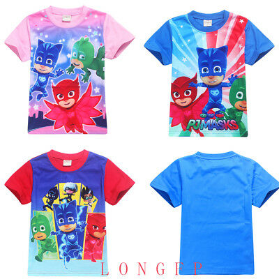 PJ Masks Costume Clothing Kids T-Shirt SweatShirt GekkoOwlette Catboy Tops AU