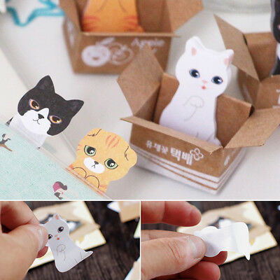 Cute Cat Kitty House Sticker Post-It Note Sticky Notes Bookmark Maker Memo Pads