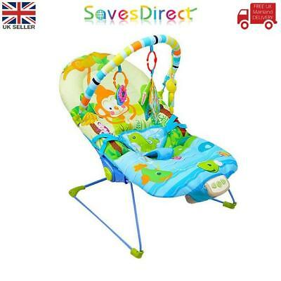 Baby Rocker Monkey  Bouncer Reclining Soothing Music Vibration Toys 3 Colours