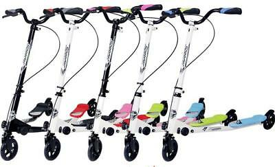 Three Wheels Kids Large Speeder Slider Fold-able Push Drifter Scooters