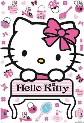 "Wandsticker ""Hello Kitty"" Wandaufkleber, Sticker, Dekoration Kinderzimmer 41360"