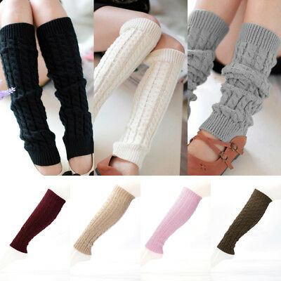 Hot Womens Fashion Winter Knit Crochet Knitted Leg Warmers Legging Boot Cover