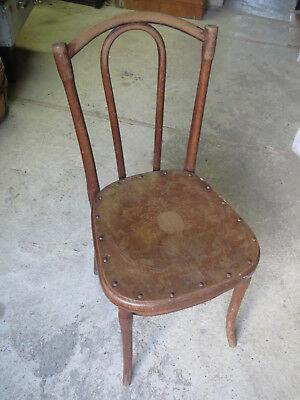 Ancienne Chaise Bistrot Bois Courb Vintage THONET Luterma Old Chair