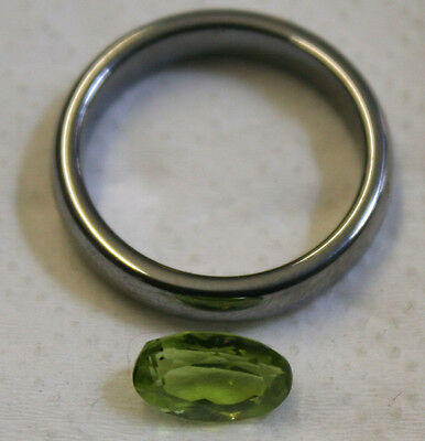 Natural Gemstone Faceted Oval 5X9Mm Loose Peridot 1.8Ct Gem Mineral Pe08