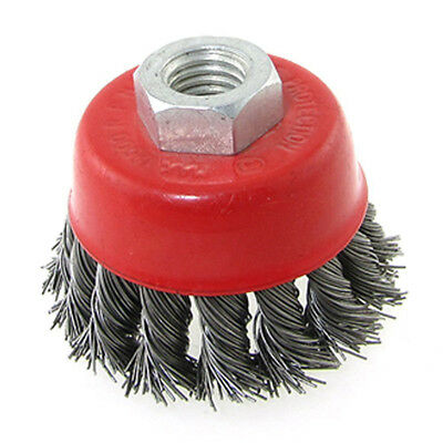 Red Twist Knot Wire Cup Thread Brush 15mm Inner Diameter E8I5 L2G1 A0C4