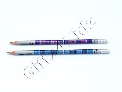 STAEDTLER Round HB Pencils with Eraser Tip & School Maths Times Tables Printed