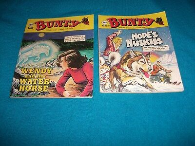 BUNTY x 2 PICTURE STORY LIBRARY BOOKS from the 1980's